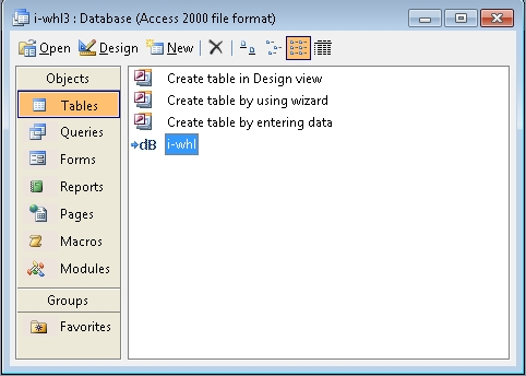 Open dbf files in MS Access