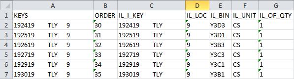 Bulk Bin in Excel